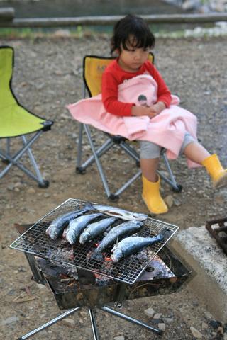 瑞雪と焼き魚