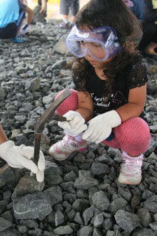 化石掘りの瑞雪