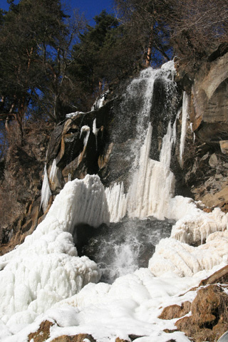 氷瀑の乙女滝
