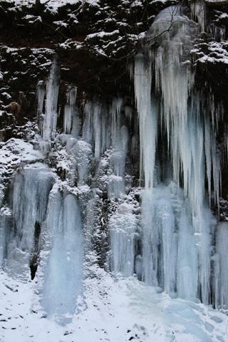 氷瀑の屏風岩