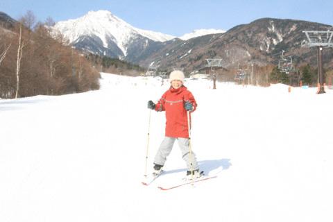 おばあちゃんのスキー