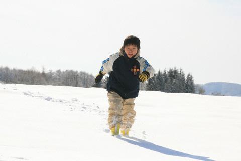 雪遊びの恒太
