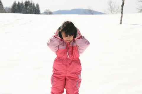 雪遊びの瑞雪