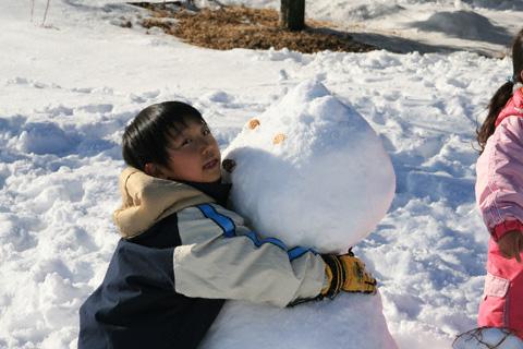雪だるまと恒太