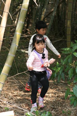 竹やぶの二人