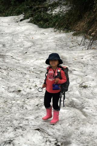 残雪と瑞雪