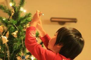 クリスマスツリーと恒太