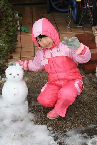 雪だるまと瑞雪