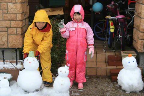 雪だるまと恒太と瑞雪