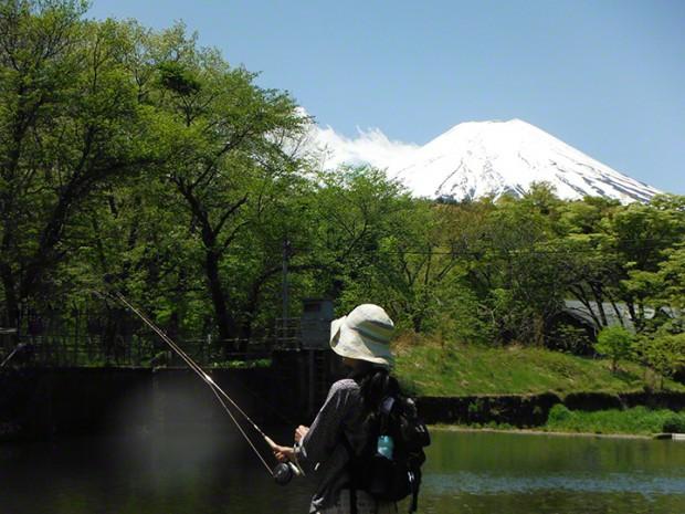 忍野と富士山